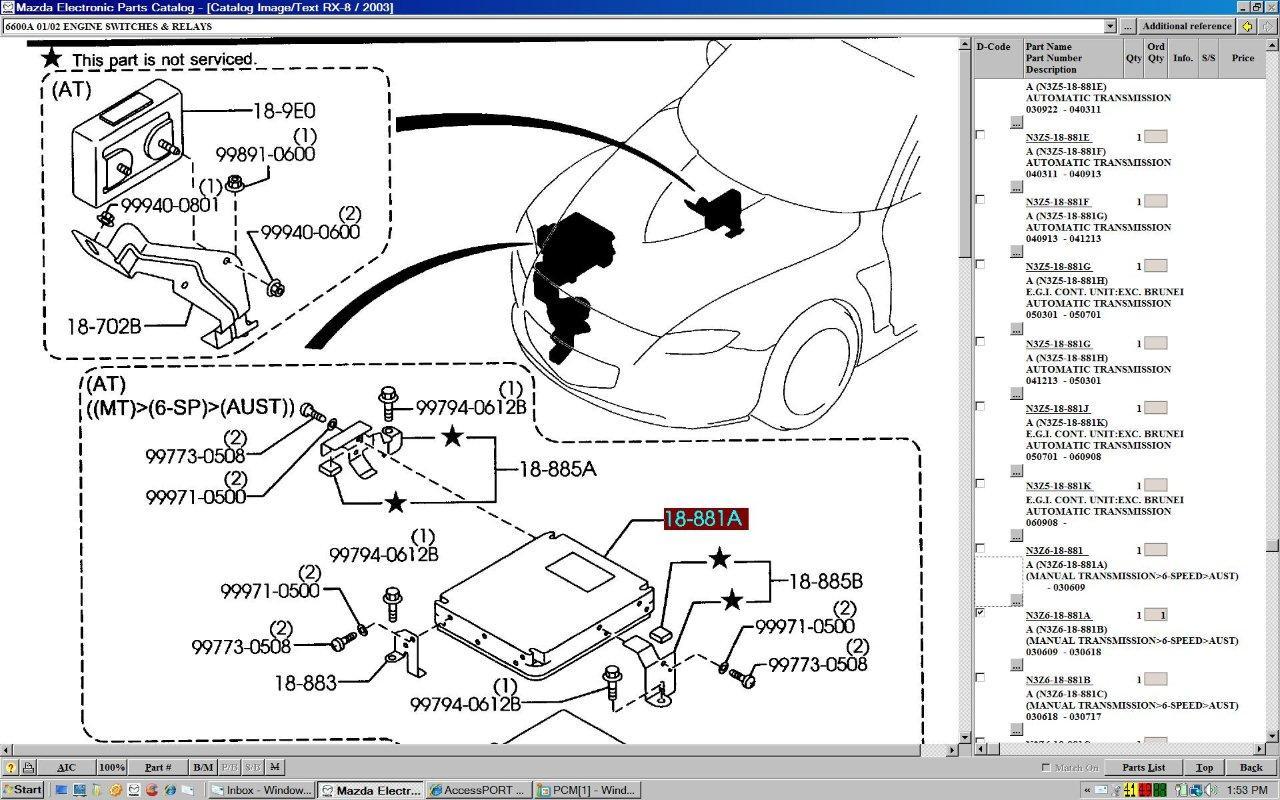 Mazda Rx8 Fuel Injector Location